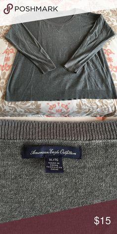 Women's American Eagle Crewneck Sweater Women's XL Gray American Eagle Crewneck Sweater.     Worn Once. American Eagle Outfitters Sweaters Crew & Scoop Necks