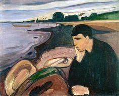 Edvard Munch, Melancholy, c.1894 on ArtStack #edvard-munch #art