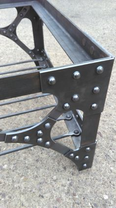 Patio chair hight exterior – - All For Decoration Welded Furniture, Steampunk Furniture, Industrial Design Furniture, Iron Furniture, Steel Furniture, Rustic Industrial, Rustic Furniture, Furniture Ideas, Wood Steel