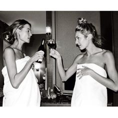 Girlfriends and wine.