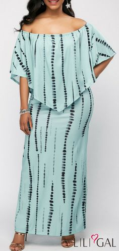 Printed Off the Shoulder Side Slit Overlay Dress Girl Fashion, Womens Fashion, Fashion Design, Casual Dresses, Fashion Dresses, Side Slit Dress, Spandex Dress, African Dress, Pretty Outfits