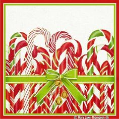 Melissa Shirley Designs | Hand Painted Needlepoint | Candy Canes � Mary Lake Thompson