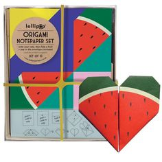 Watermelon Origami Notepaper Set by Lollipop