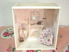 Doll house   Cozy Room with Fireplace