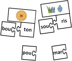 Teacher Charlotte: A la recherche de la syllabe perdue - Good for centres French Teacher, Teaching French, French Classroom, French School, Reading Centers, Montessori Activities, French Lessons, Learn French, Word Work