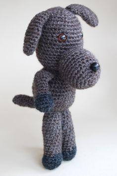 amigurumi, a crochet dog, den virkade Hunden Bruno