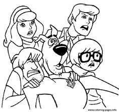 all scared but scooby doo coloring pages printable and coloring book to print for free find more coloring pages online for kids and adults of all scared - Scooby Doo Coloring Book