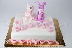 teddy bear and bunny cake, tort z misiem i zajączkiem, cukiernia gdańsk, www.rogwojskiego.pl