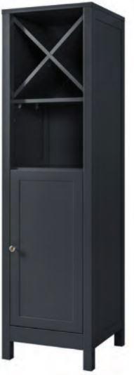 Shadow Grey Elegance Collection - Shadow Grey Elegance tall boy with towel shelf (Code: EXQ4175) 400w x 1420h x 400d mm