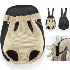 Delicate Breathable Mesh Fabric Dog Carrier Pet Chest Backpack