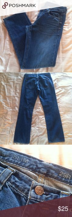 "J. Crew Vintage Slim Jean **NO TRADES PLEASE** Measure 17"" across at waist and have a 31"" inseam. These are more like a boyfriend fit jean. Last picture is the same cut but a different color with distressing. Last picture is to show the fit better. 100% cotton. No signs of wear. J. Crew Jeans Straight Leg"