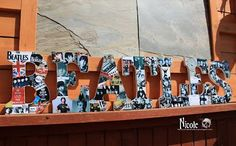 Altered letters featuring The Beatles -- I love this idea!  by Canadian Nickel Scrap'n -