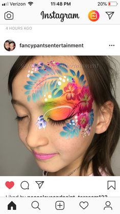 So much beauty added to two simple strokes of a rainbow cake! Thanks for letting us share your beautiful designs on our IG page! Face Painting Flowers, Eye Face Painting, Belly Painting, Face Painting Designs, Cool Face Paint, Face Paint Makeup, Eye Makeup, Rainbow Face Paint, Cool Stencils