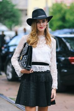 Chiara Ferragni works monochrome chic with a touch of embellished glamour.