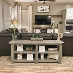 Home Renovation Living Room 36 Popular Farmhouse Sofa Table Design Ideas For Your Living Room Decor New Living Room, Home And Living, Modern Living, Small Living, Living Room Sectional, Modern Tv, Living Room Set Ups, Spare Living Room Ideas, Living Room Next To Kitchen