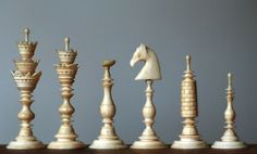 carved bone chess pieces