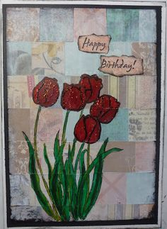 Happy Birthday: a card using scraps, stamping and coloring