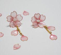 Sakura cvet pomladne Sakura uhani