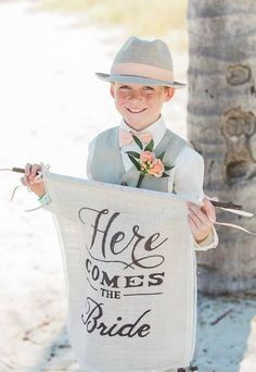 Here comes the bride sign wedding sign by RootsAndLaceDesignCO