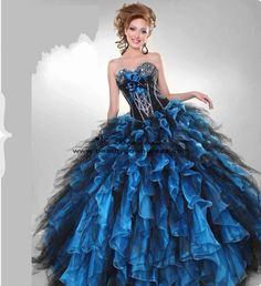 b7e65e728176 Perfect Strapless Ball Gown Quinceanera Gown Dresses Masquerade Ball Gowns, Masquerade  Party, Damenmode Online