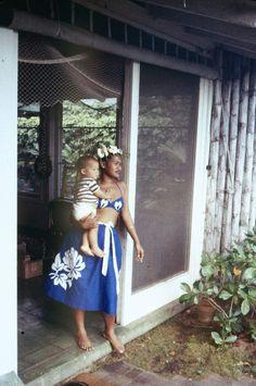 A young Hawaiian mother, 1959. LIFE magazine.