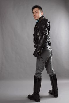 Motorcycle Leather, Asian Men, Leather Pants, Outfits, Style, Fashion, Leather, Leather Jogger Pants, Swag