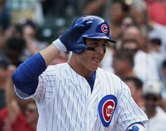 Congrats to Anthony Rizzo who  hit  his first home run as a Chicago Cub today to help t hem beat the Astros. :)