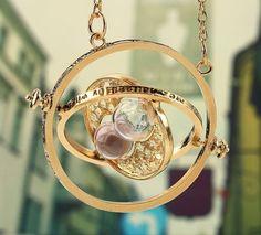 HARRY POTTER GOLD KETTE HERMINE ZEITUMKEHRER ZEITUMWANDLER UHR TIME 18K PL in Uhren & Schmuck, Modeschmuck, Halsketten & Anhänger | eBay