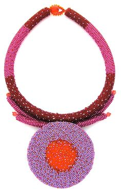 A beadwork necklace by Suzanna Solomon