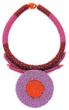 A beadwork necklace by Suzanna Solomon
