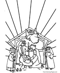 Free Nativity Coloring Pages Christian Preschool Printables