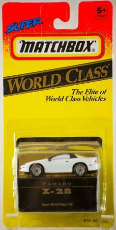 1993 - Tyco Toys Inc - Super Matchbox - World Class #38 - Camaro Z-28 - White - 1:64 Scale Die Cast - MOC - Out of Production - Limited Edition - Collectible by Tyco Toys Inc. $8.99. 1:64 Scale Die Cast Metal - Metalized Windows. Out of Production - Collector Perfect. 1993 - Tyco Toys Inc - Super Matchbox. Super World Class #38 - Camaro Z-28 - White. New - Mint - Rare - Limited Edition - Collectible. 1993 - Tyco Toys Inc - Super Matchbox - World Class #38 - Camaro Z-28 / White - ...