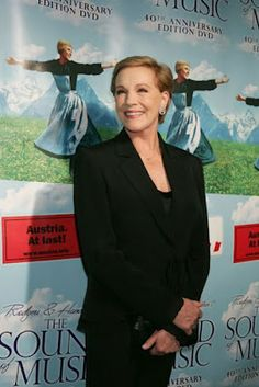 Julie Andrews. She is just so elegant and graceful and wonderful. I love her.