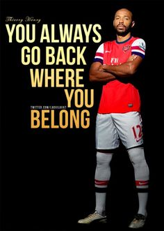 "See you in Finny P Tel! :p ""Thierry Henry - The Legend Arsenal Fc, Arsenal Soccer, Arsenal Players, Thierry Henry, Football Is Life, Football Soccer, Football Shirts, Arsenal Pictures, Statue En Bronze"