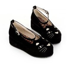 CAT FLATFORMS from Brave Store (240 VEF) ❤ liked on Polyvore featuring shoes