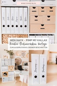 IKEA Hack – Pimp my Kallax with New Swedish Design – DIY free folder spine template for printing and labeling of folders – Binderlabel Rückenschild folder labels Expedit