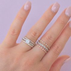 14kt Gold & Diamond Stacking rings