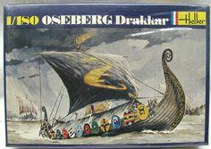 Heller 1/180 Viking Ship Oseberg Drakkar, 056 plastic model kit