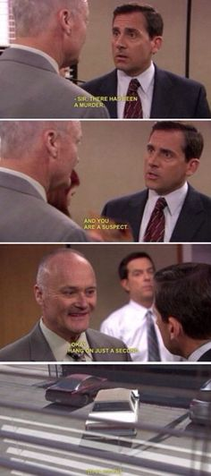 haha | Creed walks in when the office is playing Belles, Bourbon, & Bullets.