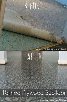 Painted Floor Painted Floor Decking of an house probably the most remarkable interior architectural features. Picking a the soil cover. Painted Plywood Floors, Plywood Subfloor, Cladding Materials, Wood Cladding, Diy Flooring, Cheap Flooring Ideas Diy, Inexpensive Flooring, Up House, Sell House