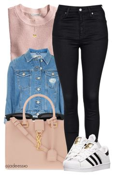 """""""•"""" by yeauxbriana ❤ liked on Polyvore featuring H&M, Topshop, Yves Saint Laurent, adidas, Charlotte Russe, women's clothing, women, female, woman and misses"""