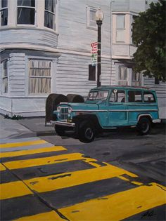 """Walk""  Acrylic on canvas painting, 30"" x 40"""
