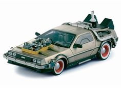 1/18 Diecast Delorean Time Machine From Back to the Future 3 Movie by Sunstar by Sunstar @ niftywarehouse.com #NiftyWarehouse #Geek #Fun #Entertainment #Products