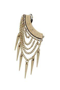 chain spike ear cuff earring