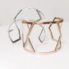 Geometric cuff - Treat yourself to the joy of looking down at something beautiful✨ #geometric #cuff  #ynsdavidson #bracelet #gold #jotd #jewelry #fashionjewerly #jewelswag #instajewelry #dailyjewelry #chic #modern #daily #cuff #whattowear  #unique