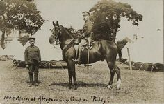 Soldiers of Royal Welch Fusiliers Summer Camp 1909 Abergavenny