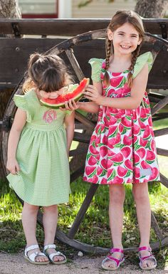 5200e7c8399 Coordinate your girls in green check and watermelon dresses all summer  long! SANDRA FILLINGIM · Eleanor rose