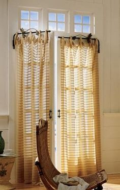 French Door curtains   Restoration Hardware Baby & Child Cast Iron Swing Arm Rod Natural Iron ...