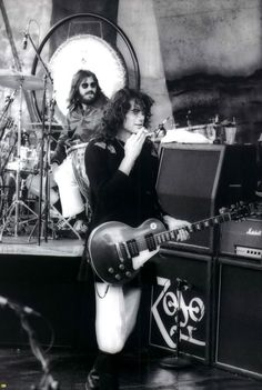 John Bonham and Jimmy Page of Led Zeppelin #JohnBonham #JimmyPage #LedZeppelin #LedZep #Zep