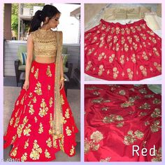 Checkout this latest Lehenga Product Name: *Stylish Partywear Lehenga* Sizes:  Semi Stitched, Un Stitched, Free Size Country of Origin: India Easy Returns Available In Case Of Any Issue   Catalog Rating: ★4.2 (6344)  Catalog Name: Zaira Lehengas CatalogID_5115 C74-SC1005 Code: 575-49101-8571